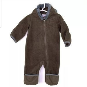 Columbia Infant 6-12 Month Brown Fleece Snowsuit